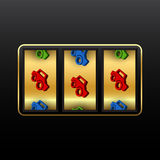 Cars slot machine Royalty Free Stock Images
