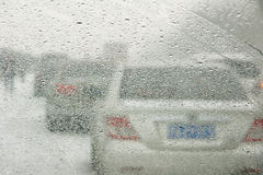 Cars in snow Royalty Free Stock Image