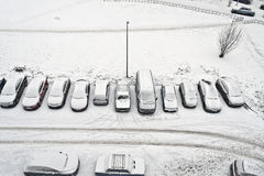 Cars snowbound Royalty Free Stock Image