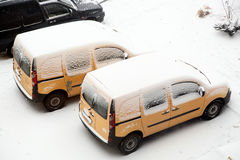 Cars. Some Cars covered with snow Royalty Free Stock Images