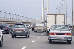 Cars South Bridge royalty free stock photos