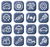 Cars and spare parts Stock Images