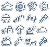 Cars and spare parts Royalty Free Stock Image