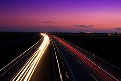 Cars speeding Royalty Free Stock Image