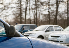 Cars standing in the parking Stock Photos