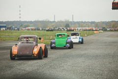Cars on starting grid Royalty Free Stock Photography