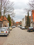Cars on the street in the Dutch town of Heusden. Stock Photography