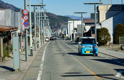 Cars on street in Gotempa, Japan Royalty Free Stock Image