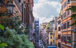 Cars on the street Via Quattro Fontane in Rome, Italy Stock Images
