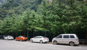 Cars on street at the Zhangjiajie Park in Hunan, China Stock Photography