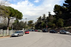 Cars on the streets of Barcelona. Royalty Free Stock Photography