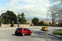 Cars on the streets of Barcelona. Royalty Free Stock Photos
