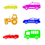 Cars symbols Stock Photography
