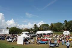 Cars and tents at boca raton resort Stock Image