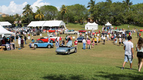 Cars and tents at boca raton resort 02 Stock Images