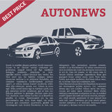 Cars with text template Royalty Free Stock Photos