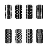 Cars tire tracks Royalty Free Stock Image