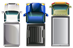 Cars Top view Royalty Free Stock Photography