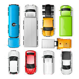 Cars Top View Stock Photos