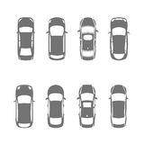 Cars top view Stock Photography