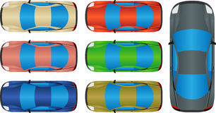 Cars - Top view Stock Photography