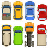 Cars top view Royalty Free Stock Photos