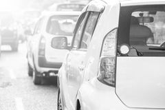 Cars in a tourist traffic jam Royalty Free Stock Photo