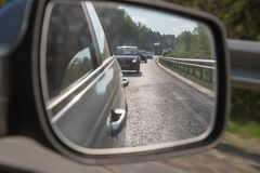 Cars on the track in the summer day near Kazan in Tatarstan in Russia stock photos