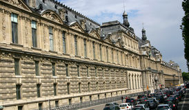 Cars and Traditional Building, Paris. Traditional Building and traffic in Paris Royalty Free Stock Photography
