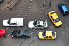 Cars in traffic Stock Photo