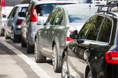 Cars in traffic. Stock Image
