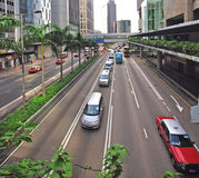 Cars traffic in Hong Kong Royalty Free Stock Image