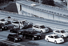 Cars and traffic jam Stock Image