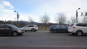 Cars in traffic jam stock video footage
