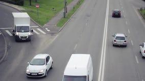 Cars in Traffic Jam stock video