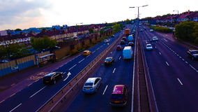 Cars. Traffic motorway London city Stock Image