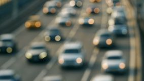 Cars in traffic, out of focus. Urban traffic jams. Cars in traffic, out of focus urban traffic jams metropolis stock video footage