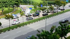 Cars and traffic time lapse video during day in east Singapore. stock video