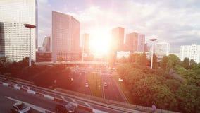 Cars traffic transportation background. city street road stock video