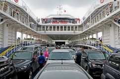 Cars transported by ferry Stock Image