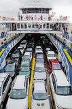 Cars transported by ferry Royalty Free Stock Photo