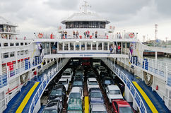 Cars transported by ferry Royalty Free Stock Image