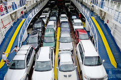 Cars transported by ferry Royalty Free Stock Photos