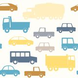 Cars and trucks seamless pattern Royalty Free Stock Photo