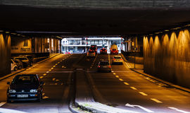 Cars in a Tunnel in Koln, Germany Stock Image