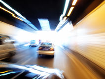 Cars in tunnel Royalty Free Stock Images