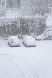 Cars under the snow Royalty Free Stock Photography
