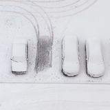 Cars under the snow Stock Photos