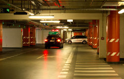 Cars in an underground garage Royalty Free Stock Photos