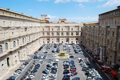 Cars in Vatican museum on May 30, 2014 Royalty Free Stock Images